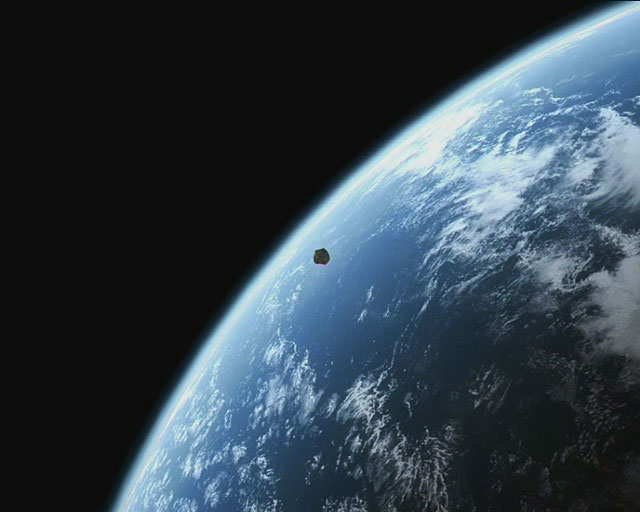 Hypothetical Near Pass of Asteroid  (artist's impression)