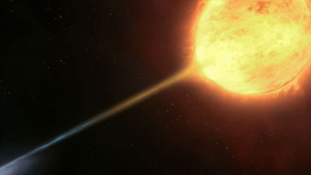 Artist's impression of vampire star