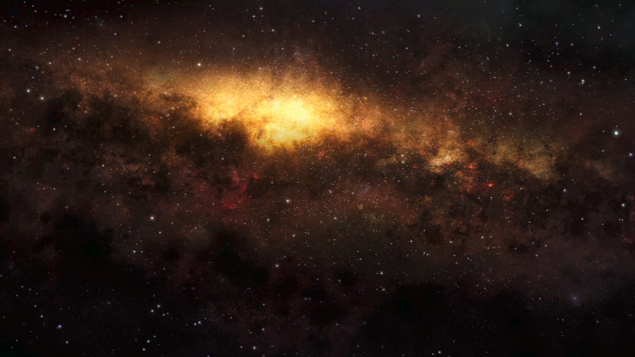 Artist's impression of the inner Milky Way