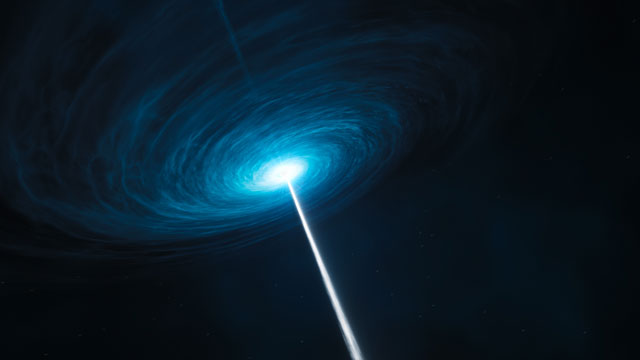 Artist's impression of the quasar 3C 279