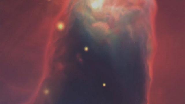 The Cone Nebula in 3D
