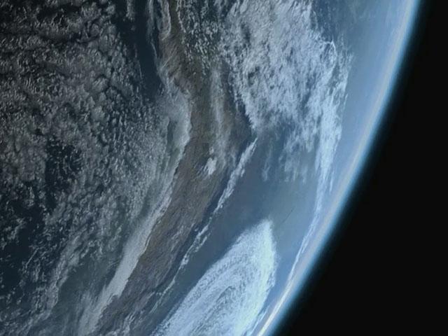 Earth rotating, South America
