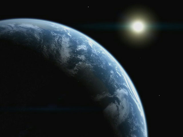 Moon, Earth  (artist's impression)