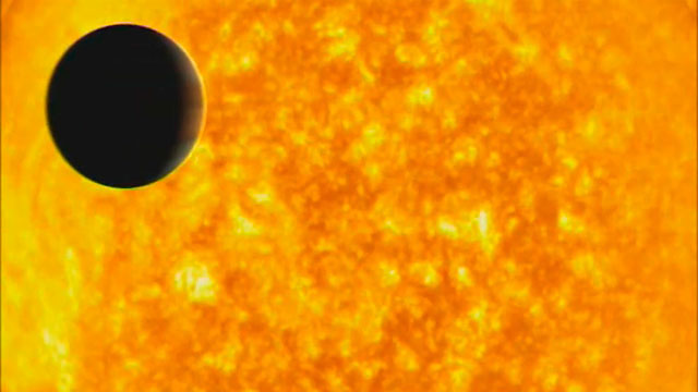 Evaporating extrasolar planet (artist's impression)