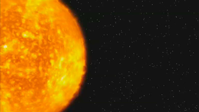Evaporating extrasolar planet (artist's impression)