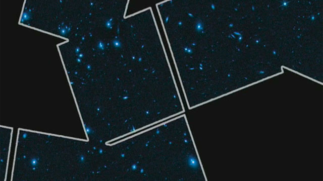 Hubble tracks down a galaxy cluster's dark matter