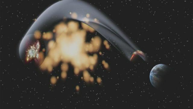 Gravitational Lens effect (artist's impression)