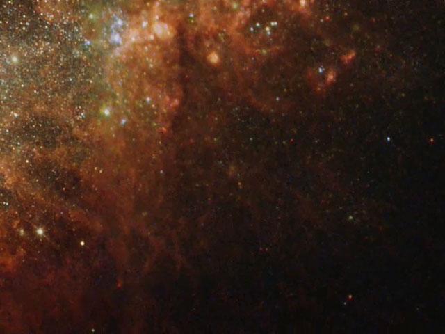 Pan over starburst galaxy NGC 1569