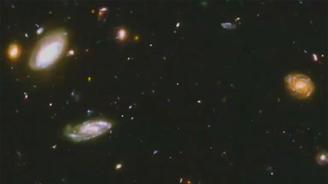 Panning on the Hubble Ultra Deep Field