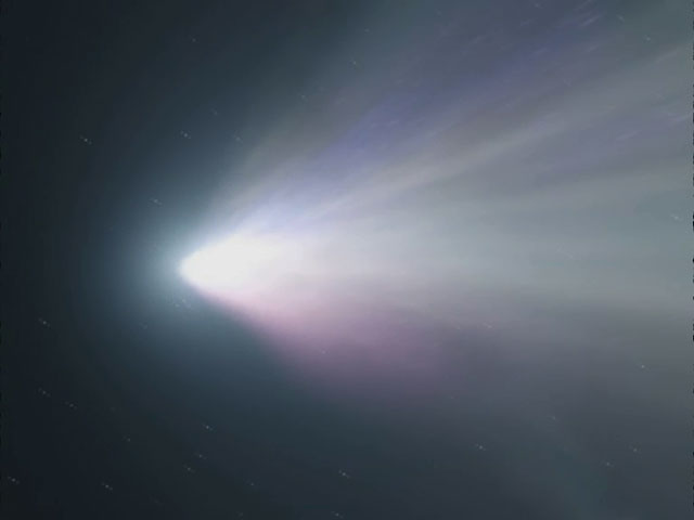 Distant view of the Comet Tempel 1 (artist's impression)