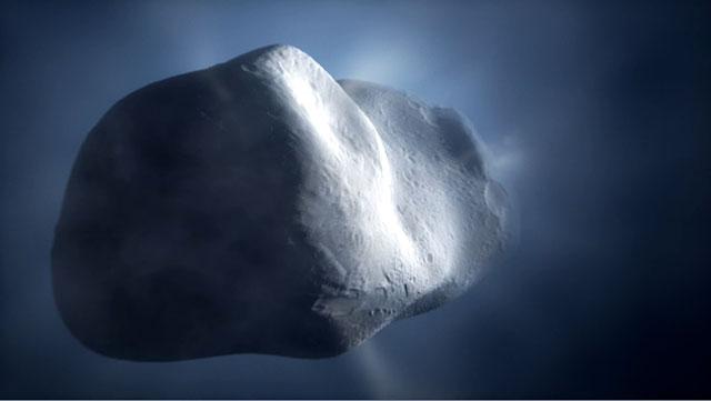 Comet Tempel 1 closeup (artist's impression)