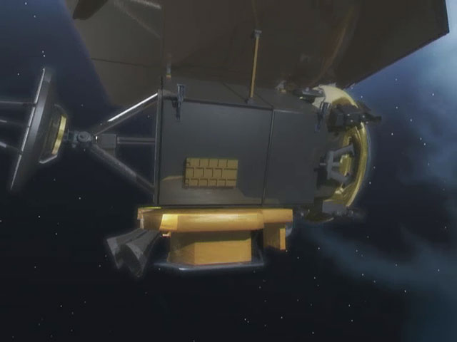 Deep Impact spacecraft closeup (artist's impression)