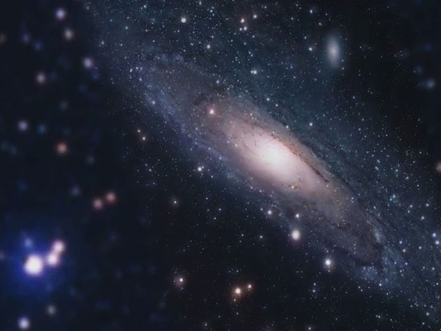 Mysterious disk of blue stars around M31's black hole