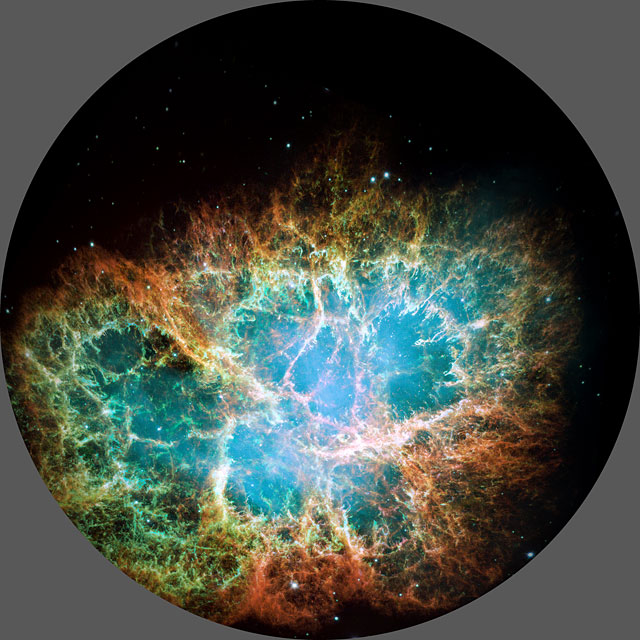 A fulldome study of the Crab Nebula
