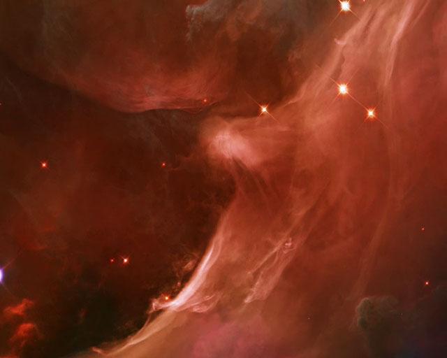 Panning on the Orion Nebula