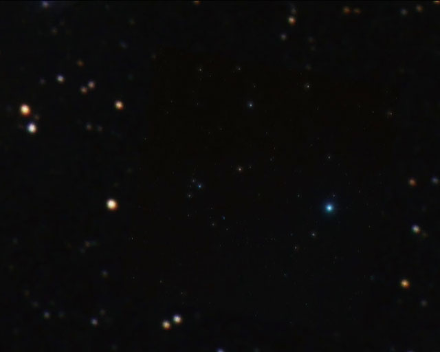 Zoom on quintuple quasar galaxy cluster