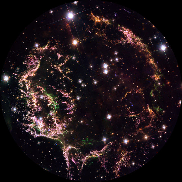 The filamentous remains of an exploded star