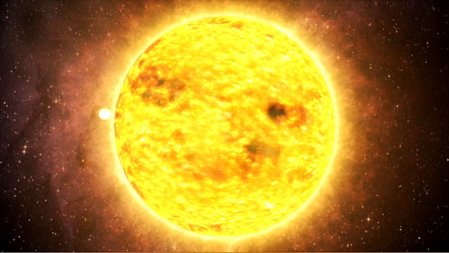 An extrasolar planet orbiting a star
