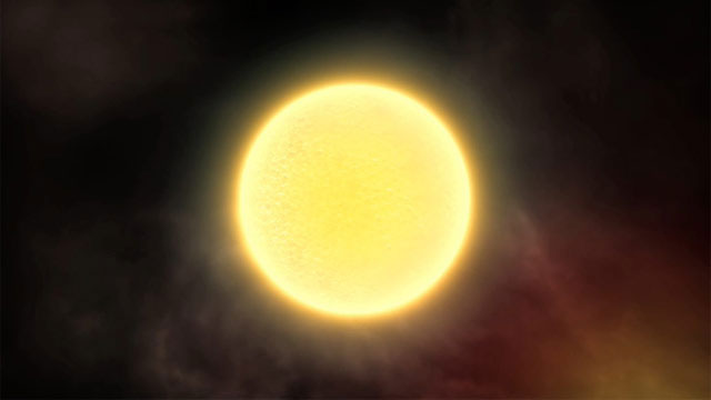 The Jupiter-sized extrasolar planet HD 189733b  (artist's impression)