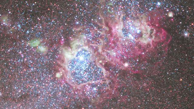 Pan over NGC 4214