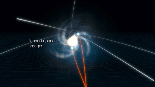 Observing a quasar accretion disc using gravitational lensing