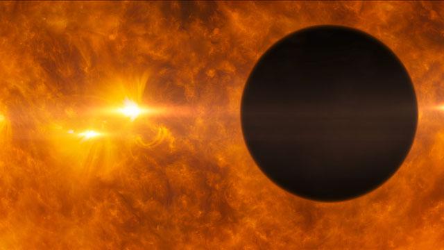 HD 1898733b transits its parent star (artist's impression)
