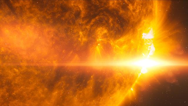 Stellar flare on HD 189733A (artist's impression)