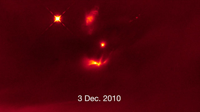 Light echoes from LRLL 54361 (annotated)