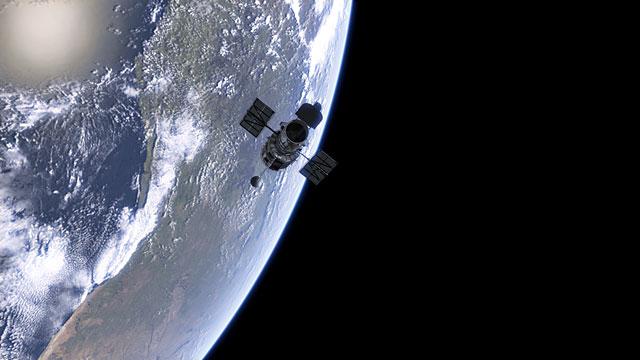 Hubble orbiting Earth
