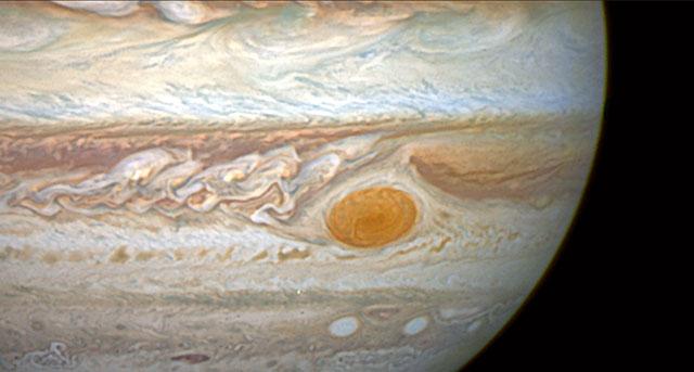 Pan across Jupiter