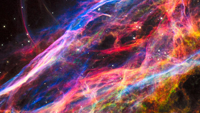 Panning across the Veil Nebula