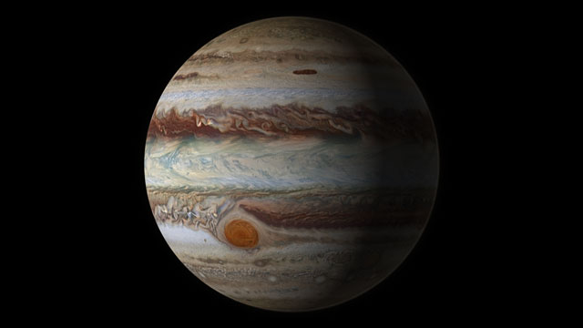 Moving features on Jupiter