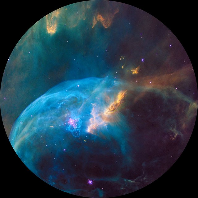 Bubble Nebula for fulldome