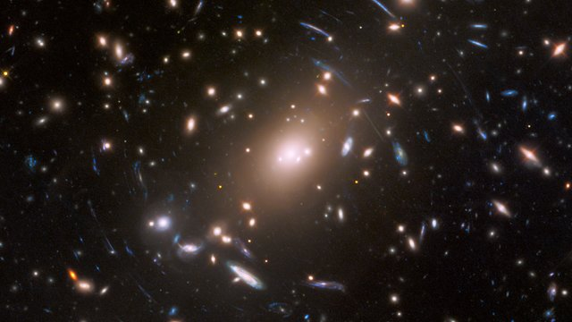 Pan across the galaxy cluster Abell S1063