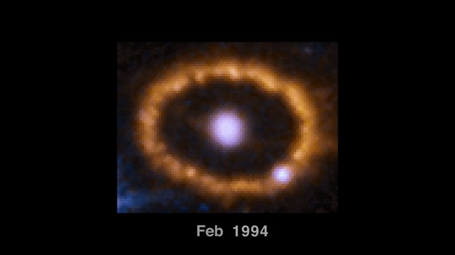 Time-lapse of SN 1987A and its ring