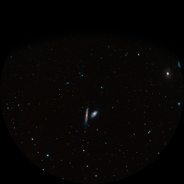 Fulldome view of NGC 4298 and NGC 4302