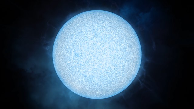 The blue supergiant star LS1 (artist's impression)