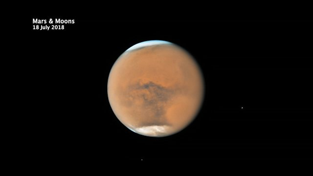 The surface and the moons of Mars
