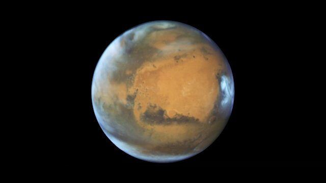Animation of difference in Mars orientation, 2016 and 2018
