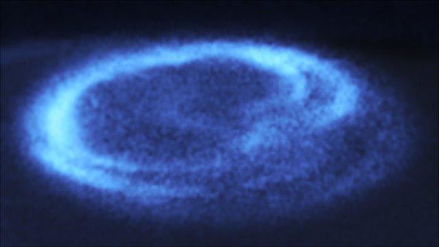 Closeup of Saturn's auroras