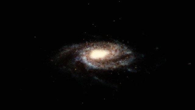 Globular clusters surrounding the Milky Way (artist's impression)
