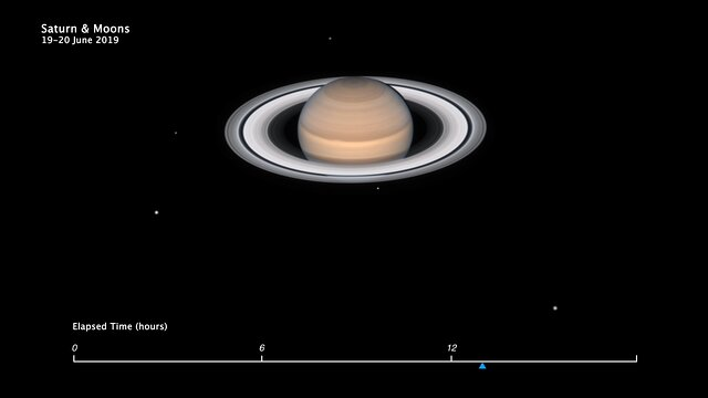 Animation of Saturn's Moon