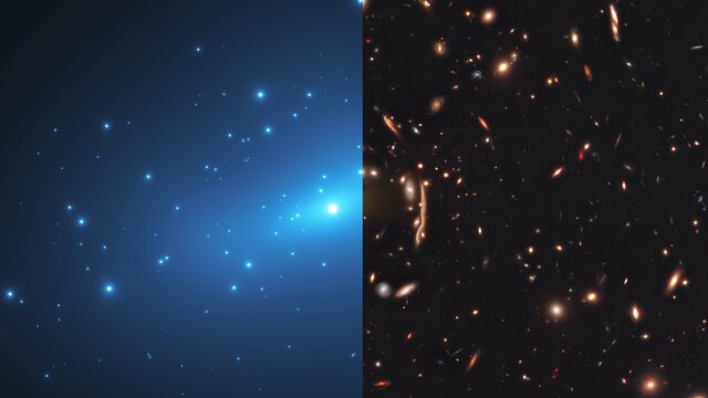 Hubble Sheds Light on Small-Scale Concentrations of Dark Matter