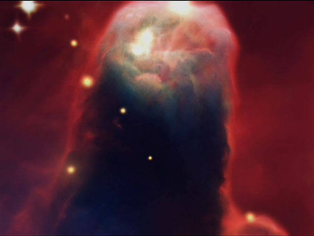 The Cone Nebula in 3D