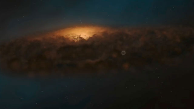 3D animation of the Milky Way