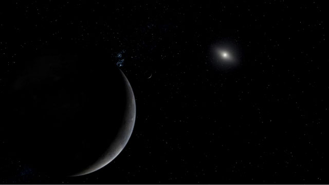 Artist's concept of dwarf planet Eris