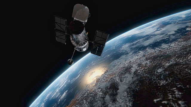 Hubble in space (artist's impression)
