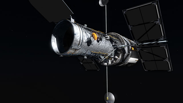 Hubble bombarded by high energy particles