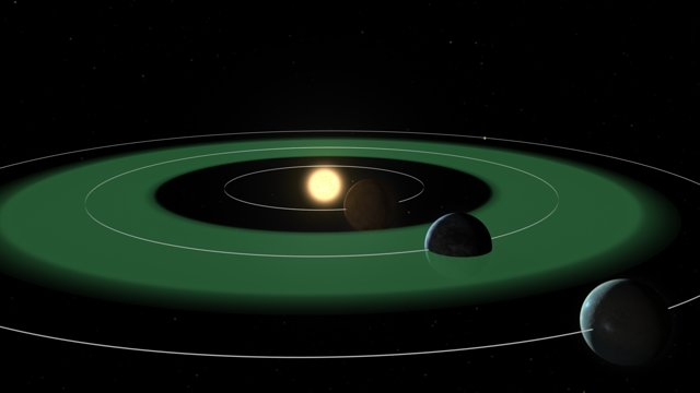 Habitable Zone (artist's impression)