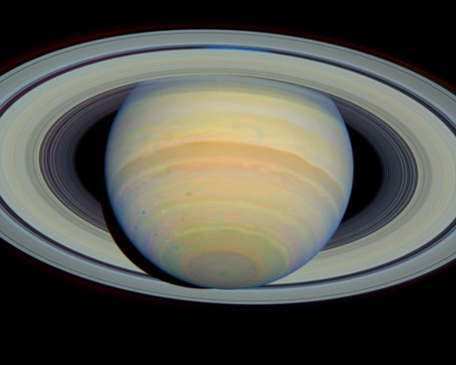 Saturn's Rings at Maximum Tilt